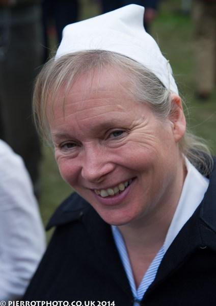 1940s weekend in Sheringham North Norfolk 2014 - nurse