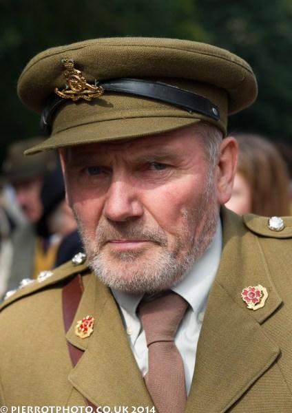 1940s weekend in Sheringham North Norfolk 2014 - army officer