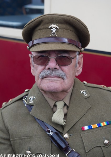 1940s weekend in Sheringham North Norfolk 2014 - British army officer