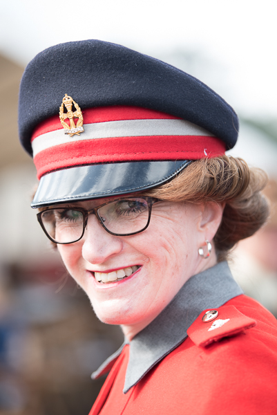 1940s weekend in Sheringham North Norfolk 2017. Woman officer with cap