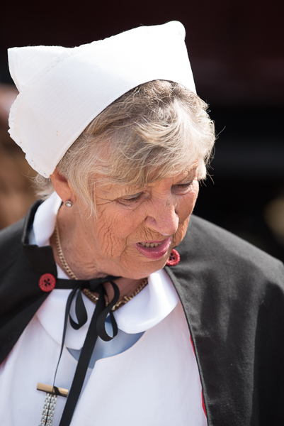 1940s weekend in Sheringham North Norfolk 2017. Red Cross Nurse in cap.