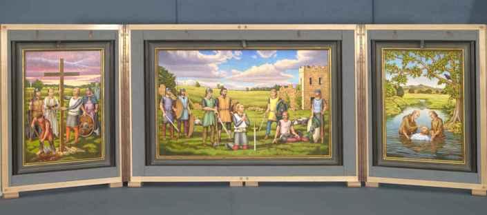 St Oswald Triptych by Piers Williams, 2017-18