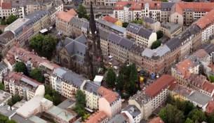 Lutherplatz luftaufnahme