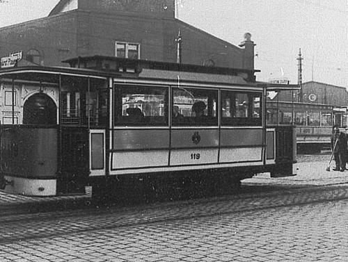 Mickten Beiwagen der Lößnitzbahn um 1910