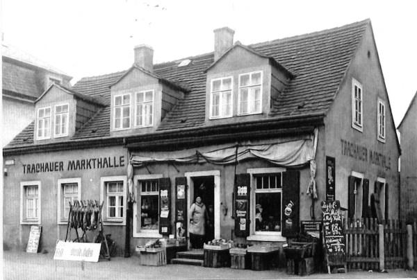 Trachau Leipziger Str. Nr. 242 Markthalle um 1930