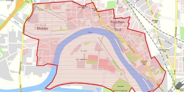 evakuierungsgebiet pieschen