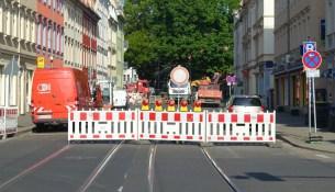 Bürgerstraße Vollsperrung