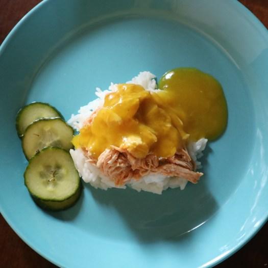 Revittyä kanaa mangookastikkeella.