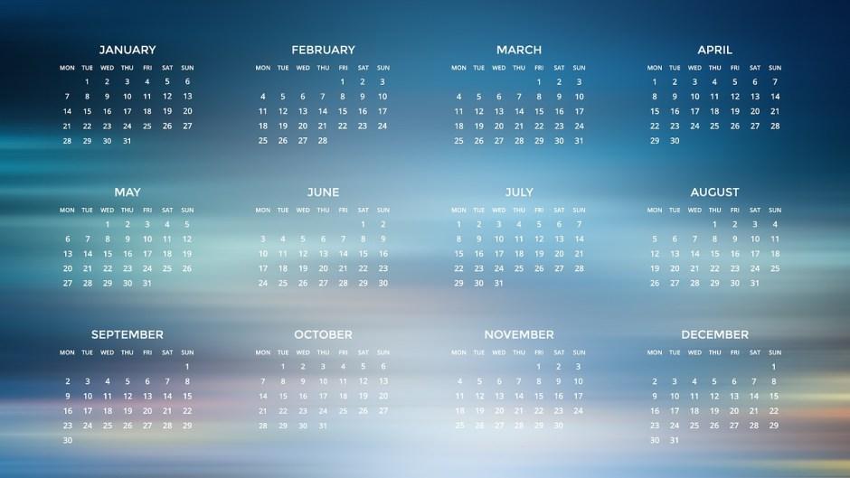 Vuoden 2019 kalenteri.