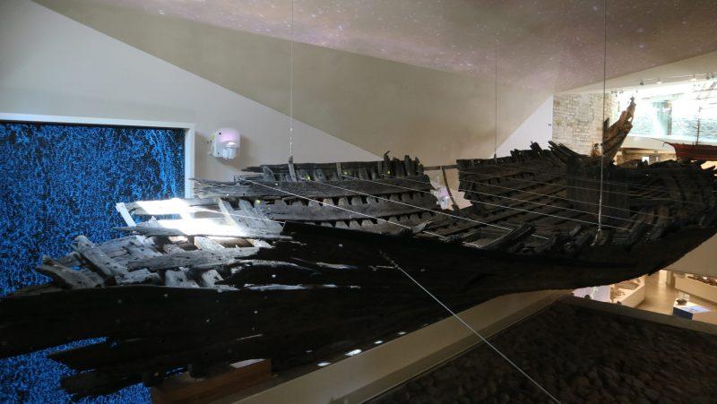 Kogen hylky Paksu Margareetta museossa.