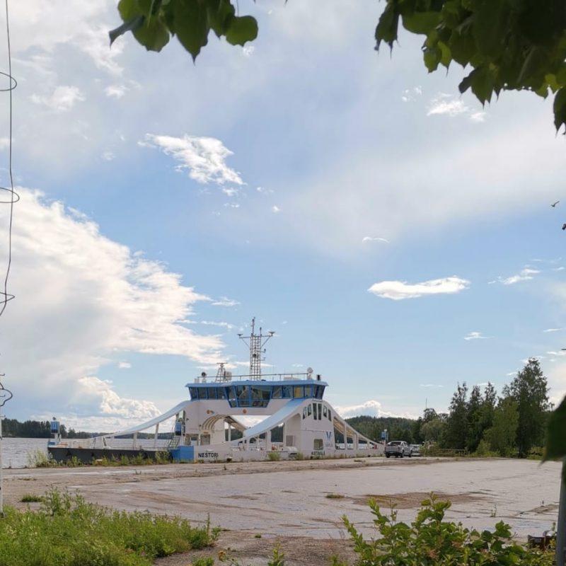 Nestori -lossi Savonlinnan Citymarketin rannassa.