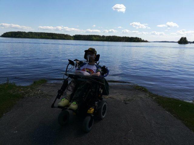 Selfie Heikinpohjan veneenlaskurampilla.