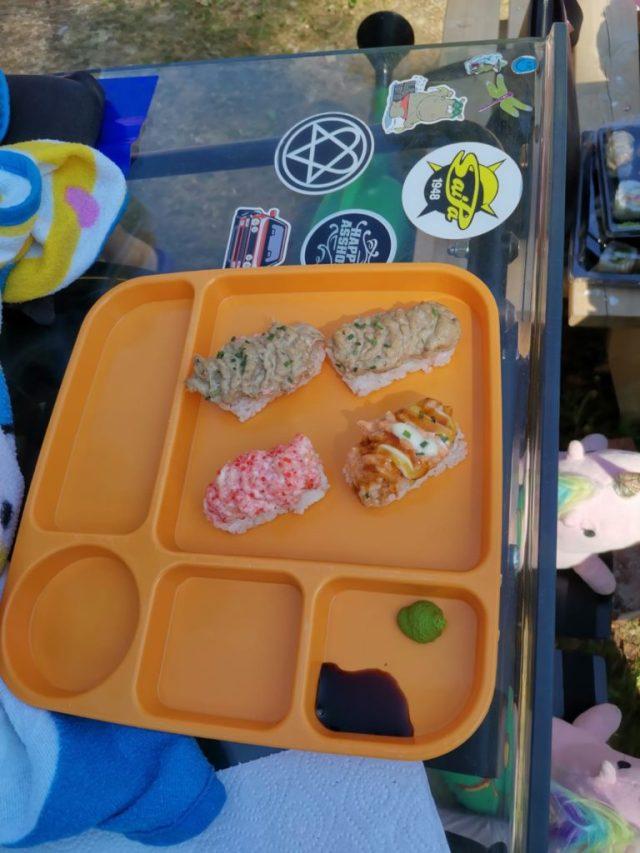 Pihahommia jaksaa tehdä, kun syö välillä sushia.