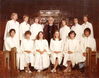 Glen with confirmands in 1977