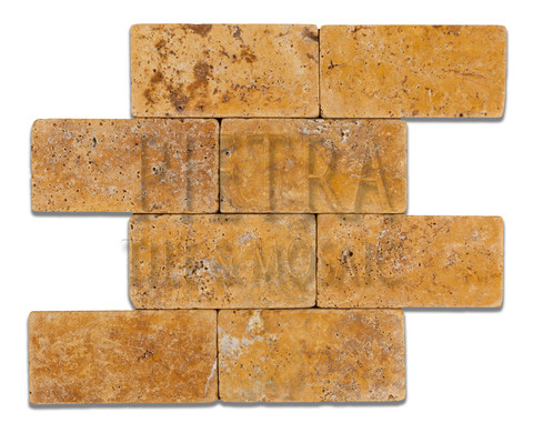 building materials tumbled yellow travertine 4 x 4 field tile gold tiles