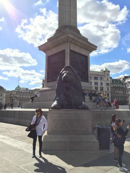 Cosa vedere a Londra in quattro giorni trafalgar square leone