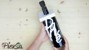 Plotteranleitung - Plotten mit Papier - Weinflaschenanhänger PiexSu
