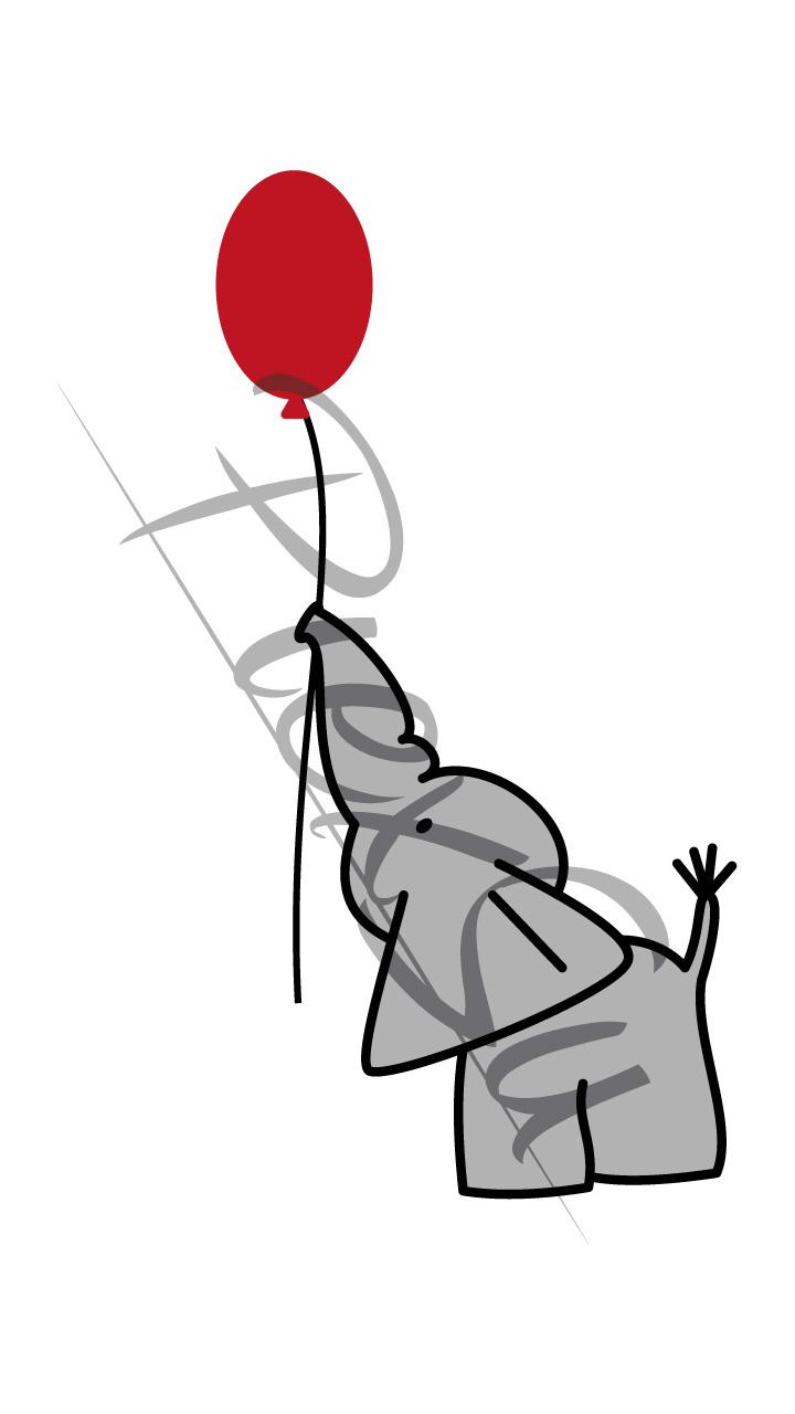 Plotterdatei Elefant mit Ballon