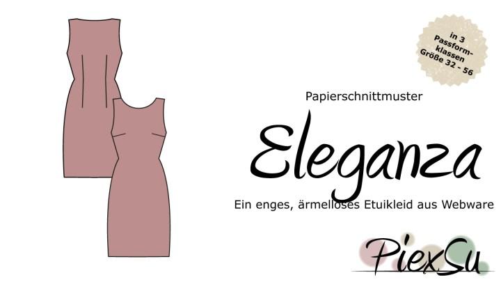 Papierschnittmuster PiexSu Eleganza inkl. eBook