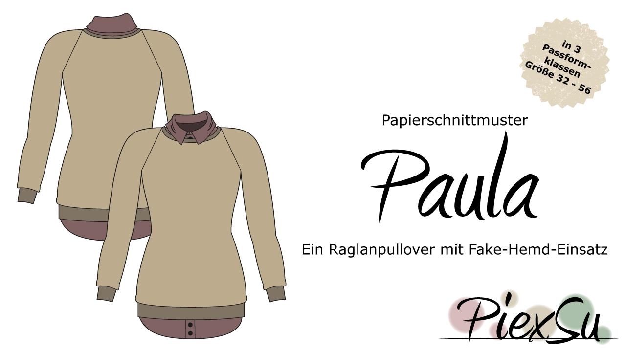 Papierschnittmuster Pulli Paula inkl. eBook