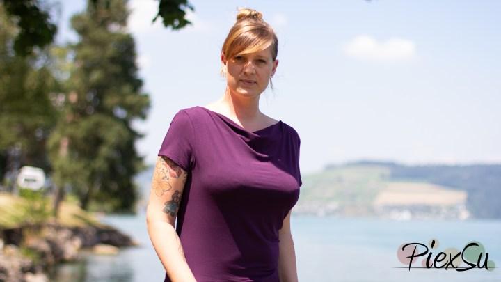 eBook Schnittmuster PiexSu Sunny Wasserfallkleid + Shirt