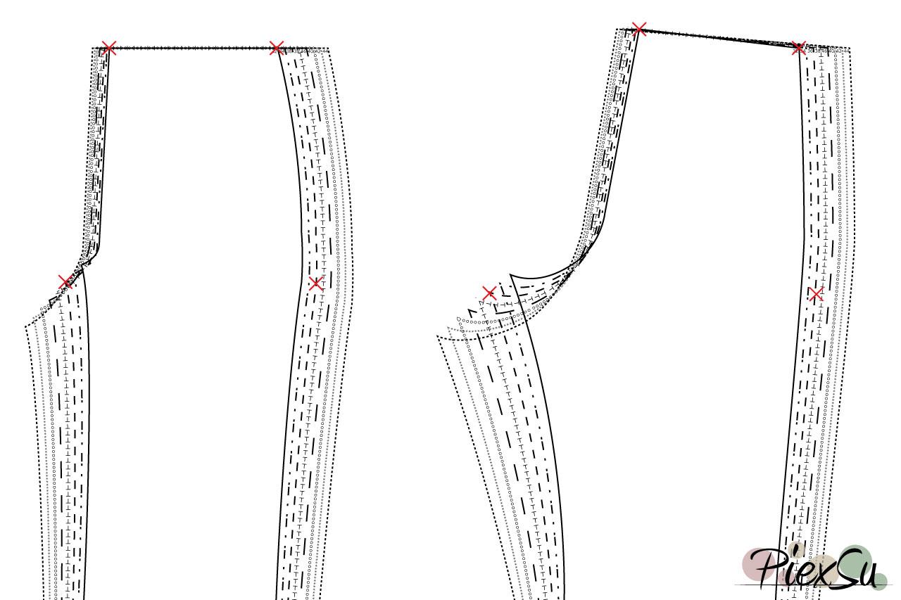 PiexSu-Schnittmuster-anpassen-Hosenschnittmuster-anpassen-unterschiedliche-Größe-in-Taille-und-Hüfte-02