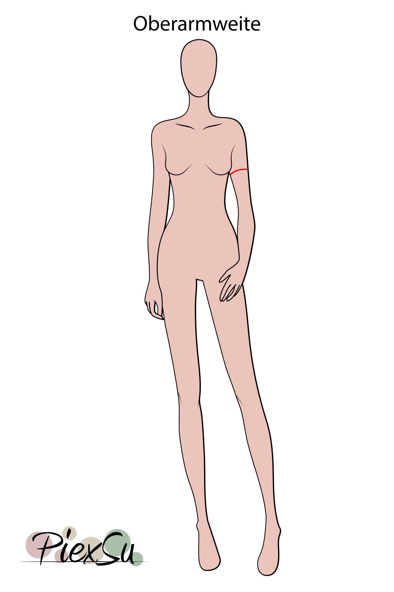 PiexSu-richtig-Maßnehmen-Maße-Schnittmuster-nähen-Schnittmuster-anpassen-messen-Maßband-Oberarumfang-Oberarmweite