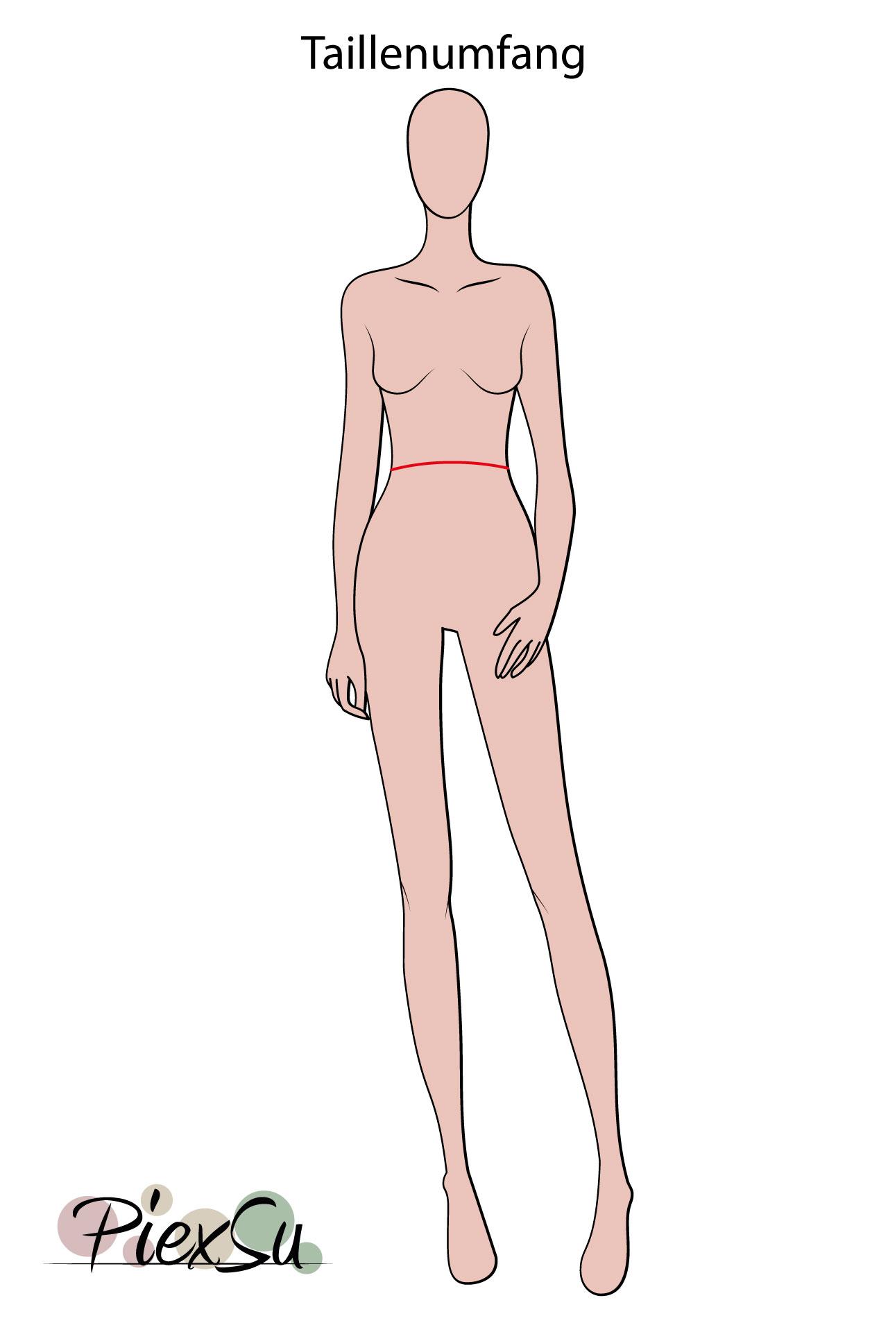 PiexSu-richtig-Maßnehmen-Maße-Schnittmuster-nähen-Schnittmuster-anpassen-messen-Maßband-Taillenumfang