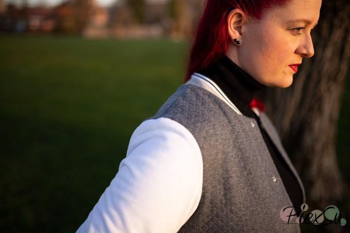 PiexSu College Jacke Scola Schnittmuster Nähanleitung Jacke nähen Rockabilly ebook sweat jeresy bündchen (22)
