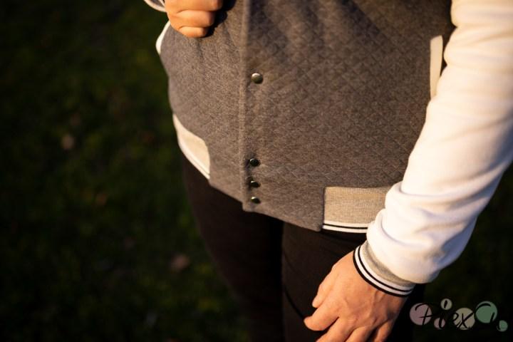 PiexSu College Jacke Scola Schnittmuster Nähanleitung Jacke nähen Rockabilly ebook sweat jeresy bündchen (29)