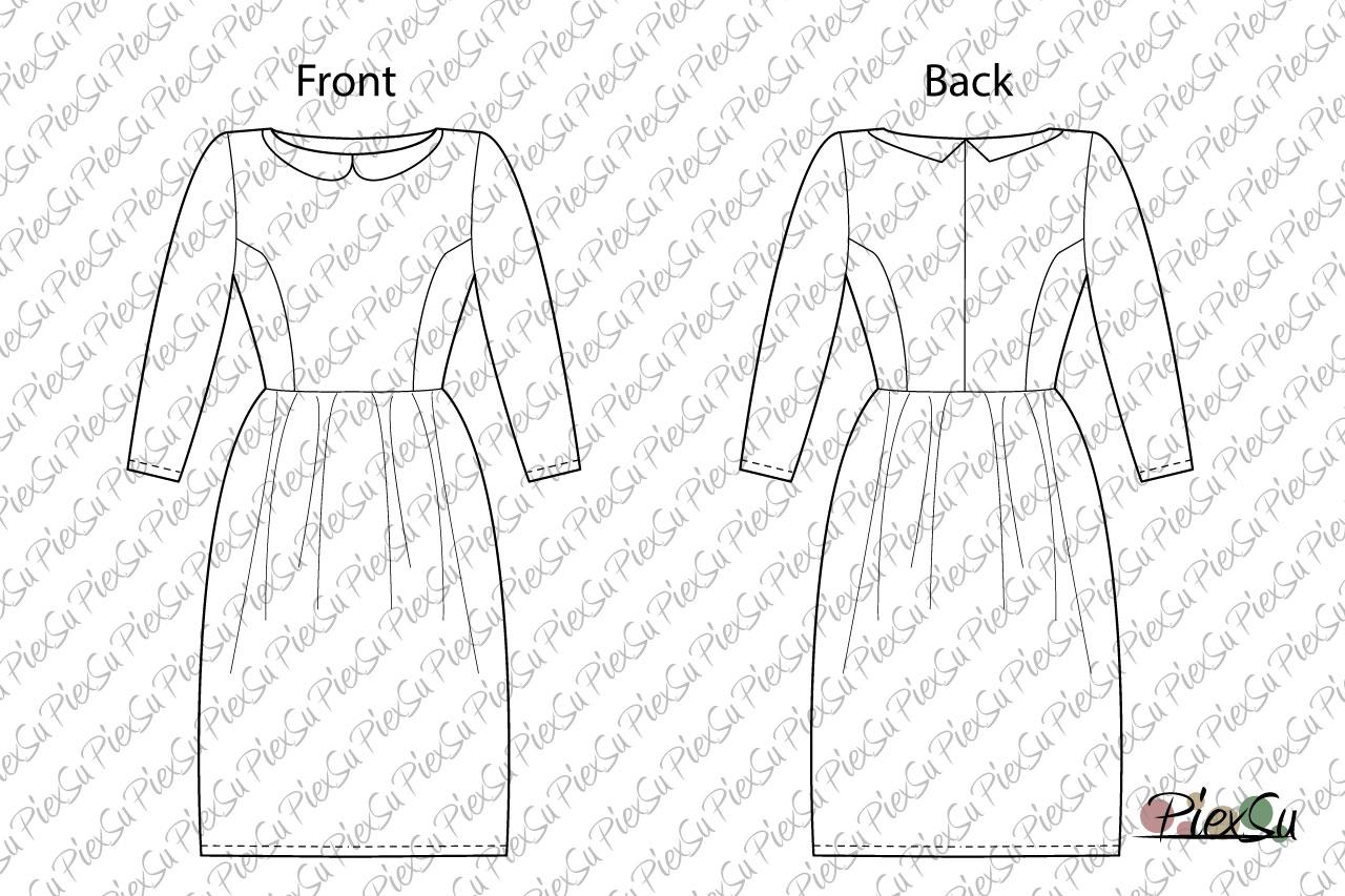 PiexSu-Schnittmuster-Kleid-Aurelie-Baumwolle-käuselrock-nähen-eBook-Nähanleitung