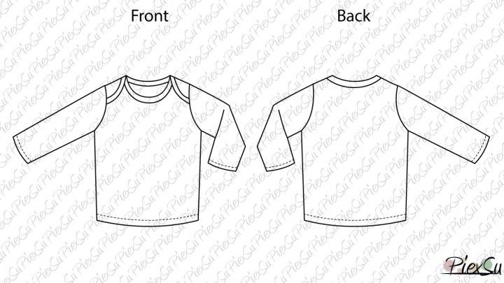 Schnittmuster-PiexSu-T-Shit-Babyshirt-Libli-technische-Zeichnung