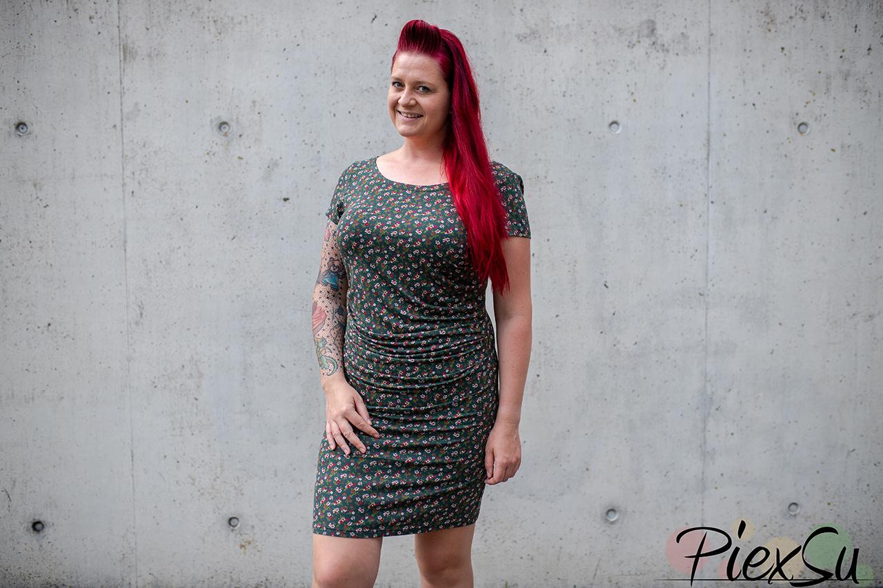 Schnittmuster PiexSu Faudas Kleid nähen Jerseykleid Faltenkleid nähanleitung (18)