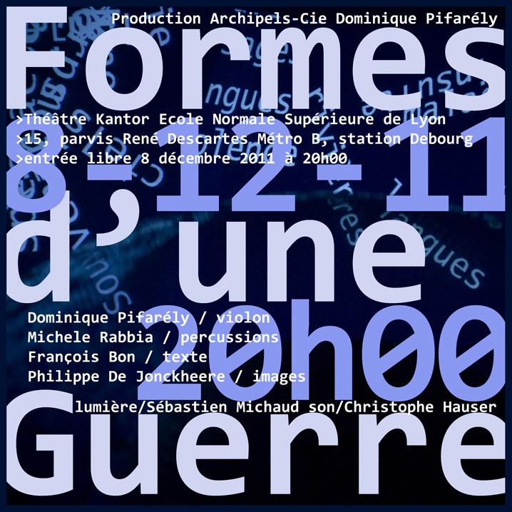 Formes d'une guerre, Lyon, 8 décembre