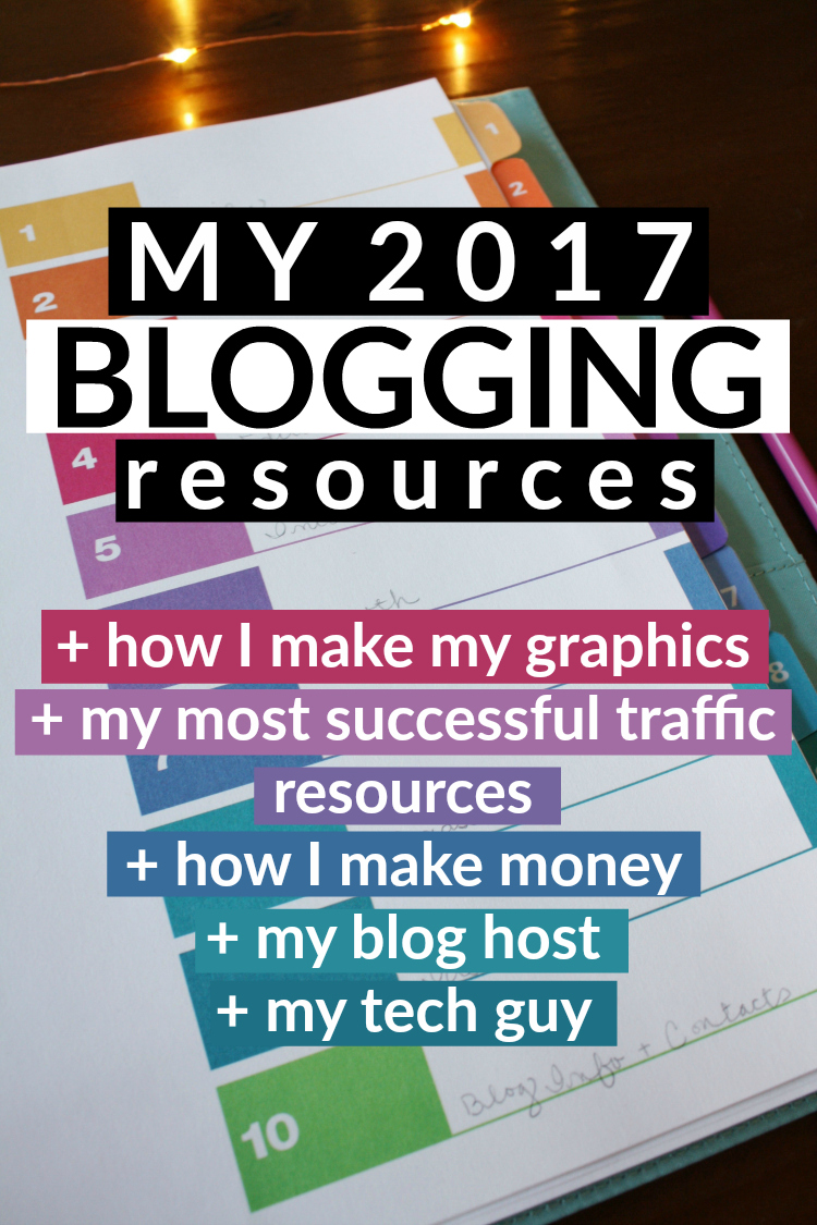 My 2017 Blogging Resources