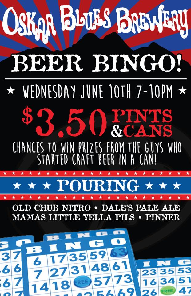 Oskar Blues Beer Bingo