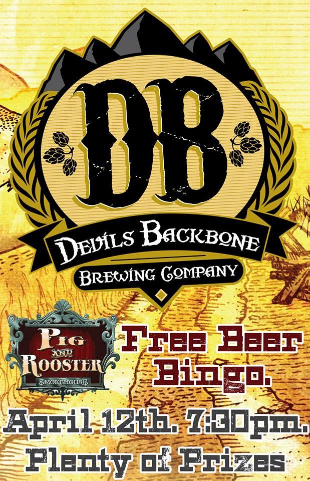 Beer Bingo with Devils Backbone