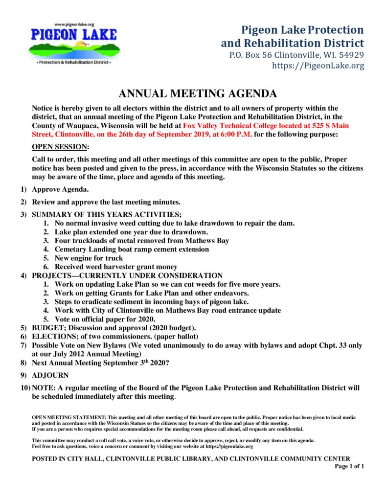 thumbnail of ANNUAL PIGEON LAKE MEETING AGENDA 9-26-2019a
