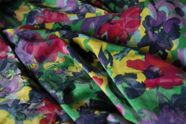 Floral disco jacquard(weaved with gold thread) designer