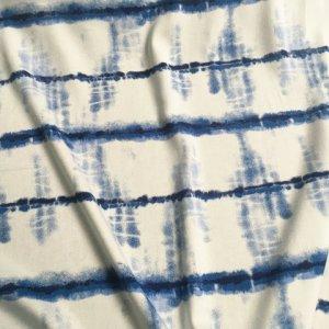 Blue calico plant based traditional dye method viscose twill -rrbz.LR