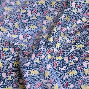 Keith Haring - 24 Momi silk cotton mix poplin -jdby.KH