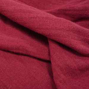 Washed cotton double guaze - ruby -WC.