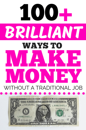 Do you need to make money on the side? This list has 100+ money making ideas for making money from home, making money online, and making money with side hustles. Find tips to make a quick buck or start up a full business. There's definitely an idea in here for you so get started now #makemoney #makemoneyonline #sidehustle #collegelife #workfromhome