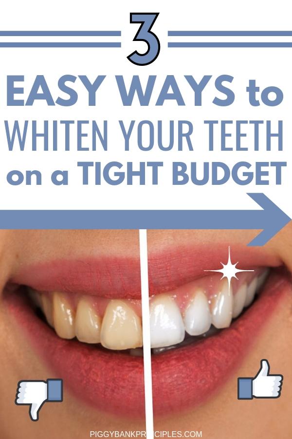3 Cheap Diy Methods For Instant Teeth Whitening Piggy Bank