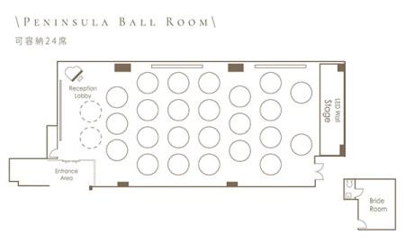 帝國中心 維港皇宴 Peninsula Ball Room 平面圖
