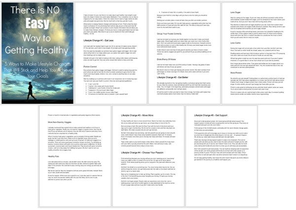 "A preview of the PLR report ""There's No Easy Way To Getting Healthy"""