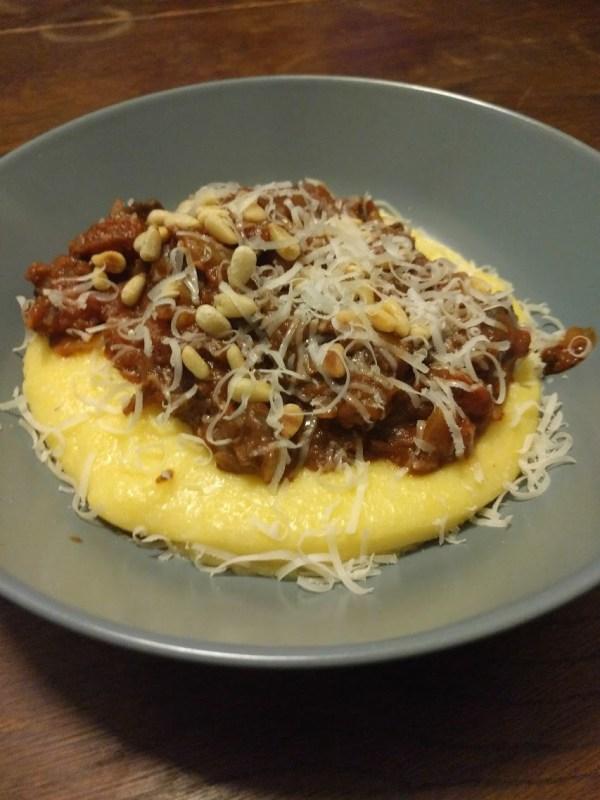 Black Pudding Ragu with Parmesan Polenta Thomasina Miers Home Cook
