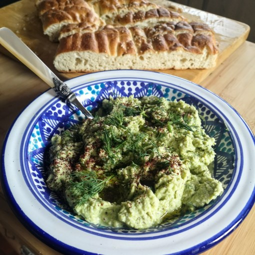 Broad bean & ricotta dip | Sabrina Ghayour (Bazaar: Vibrant Vegetarian Recipes)