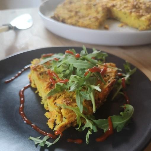 Vegan Frittata Elly Pear Curshen The Pear Cafe Green cookbook Socca