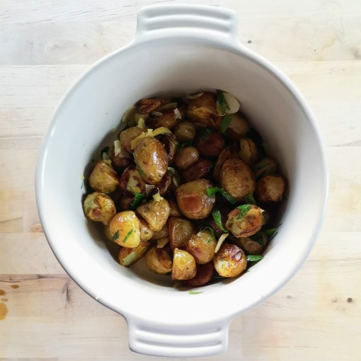 Diana Henry Roast potatoes with chilli, mint and preserved lemon Simple